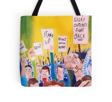 When all the geeks riot Tote Bag
