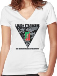 2 REP Foreign Legion Women's Fitted V-Neck T-Shirt