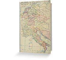 Modern history; Europe map Greeting Card