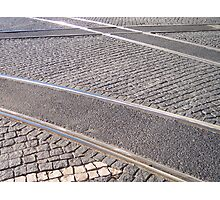 Tram rail  Photographic Print