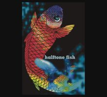halftone fish by tiffanyo