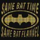 Same Bat Flannel by ZugArt