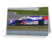 Toyota Racing No 7 Greeting Card