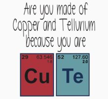 Cute (periodic table) t-shirt and sticker by Domsbubble