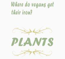 Where do vegans get their iron? Baby Tee