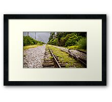 Standing By Me a Railroad Adventure Framed Print