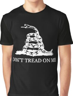 Gadsden Flag - Black and White Graphic T-Shirt