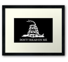 Gadsden Flag - Black and White Framed Print
