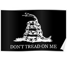 Gadsden Flag - Black and White Poster