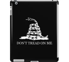 Gadsden Flag - Black and White iPad Case/Skin
