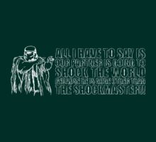 Shockmaster (for dark shirts) by Bob Buel