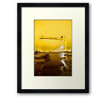 Belfast , Harland & Wolff Heavy Industries , Northern Ireland Framed Print