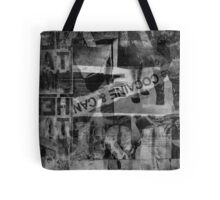 Urban Street Art (graffiti) Collage Black & White Tote Bag