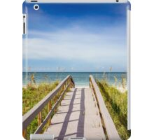 Board Walking a Treasure Island Beach Get Away iPad Case/Skin