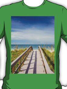 Board Walking a Treasure Island Beach Get Away T-Shirt