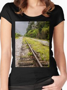 Standing By Me a Railroad Adventure Women's Fitted Scoop T-Shirt