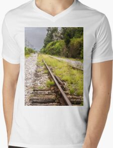 Standing By Me a Railroad Adventure Mens V-Neck T-Shirt