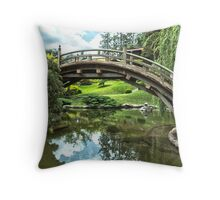 Japanese Garden at the Huntington Library Throw Pillow