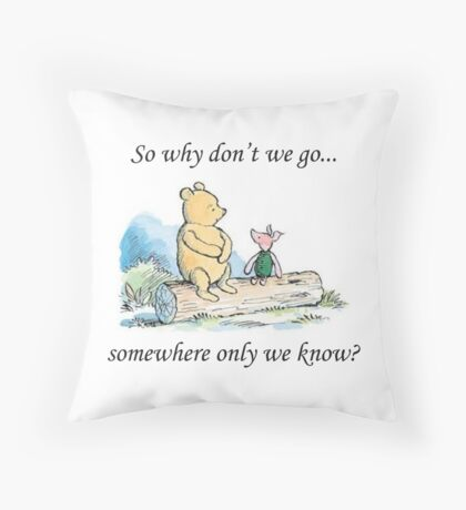 """Keane """"Somewhere Only We Know"""" Throw Pillow"""