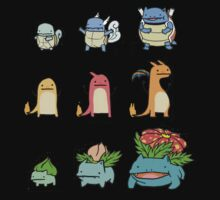 Pokemon Starters Evolution  by ksanwal