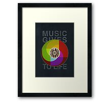 Music Gives Colour To Life Framed Print