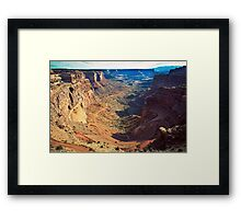 Canyon Country Curves Framed Print