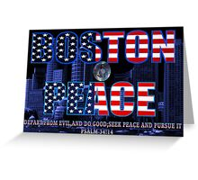 ✌☮† ❤ † BOSTON PEACE-MY HEART FELT SYMPATHY FOR BOSTON VICTIMS† ❤ †✌☮  Greeting Card