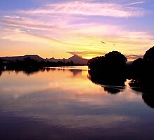 Sunset over Mt Warning by Ron Finkel