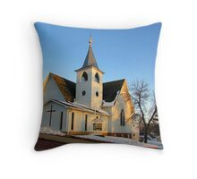Baltic Lutheran Church Throw Pillow
