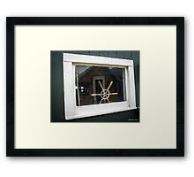 Boathouse Window Framed Print
