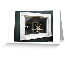 Boathouse Window Greeting Card