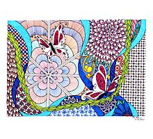 Tangle With Me Doodle Photographic Print