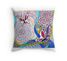 Tangle With Me Doodle Throw Pillow