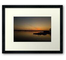 Sunset at Tidal Basin Framed Print
