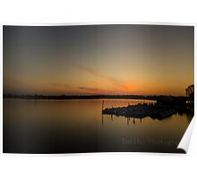 Sunset at Tidal Basin Poster