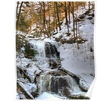 Winter Is Loosing Its Grip On Tuscarora Falls Poster