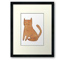 Pink Cat Framed Print