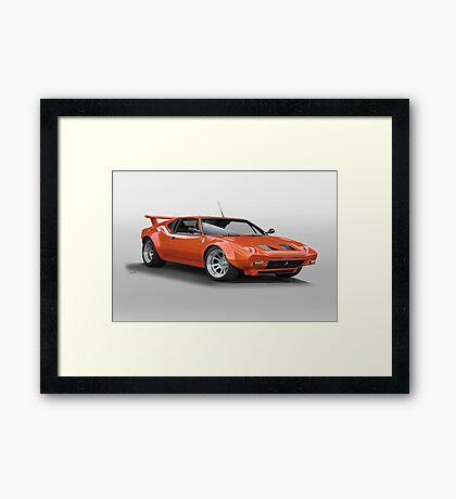 1972 De Tomaso 'Modified' Pantera Framed Print