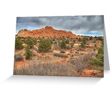 Garden of the Gods trails Greeting Card
