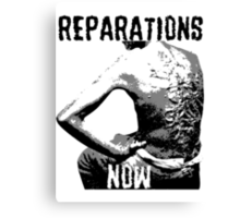 REPARATIONS NOW BATTERED SLAVE BACK SHIRT. (light) Canvas Print