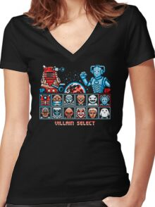STREET VILLAINS! Women's Fitted V-Neck T-Shirt