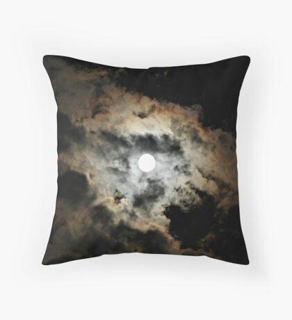 Spooky Moon Throw Pillow