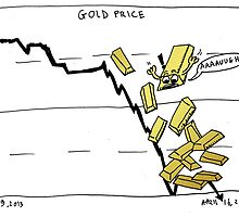 Gold falling comic by Binary-Options