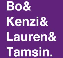 Bo & Kenzi & Lauren & Tamsin. (White Text) by burritomadness