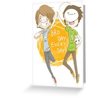 PewdieCry: Bro Day Everyday! Greeting Card
