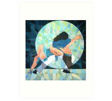 Prismatic Latin Dancers 3 Art Print