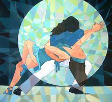 Prismatic Latin Dancers 3 by Joseph Barbara