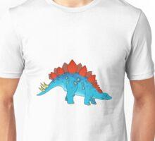 big blue friendly stegosaurus Unisex T-Shirt