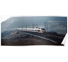 TGV going nr Cluny 198403070010  Poster
