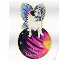 Puggerfly In Space Poster